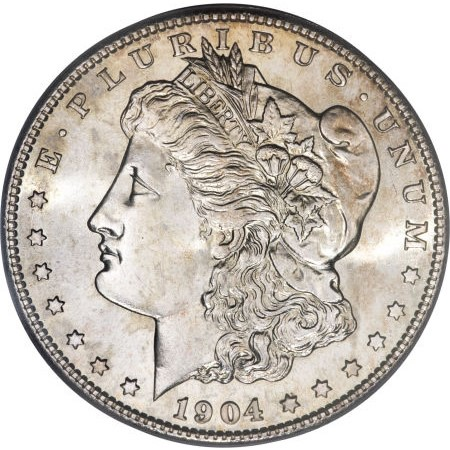 UNITED STATES Silver Coin 1904 MORGAN DOLLAR
