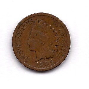 UNITED STATES Coin 1905 INDIAN HEAD PENNY