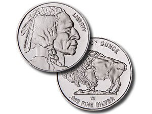 UNITED STATES 1 TROY OUNCE BUFFALO .999 FINE SILVER ROUND