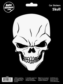 FANTASY GIFTS 2595 SKULL CAR STICKER