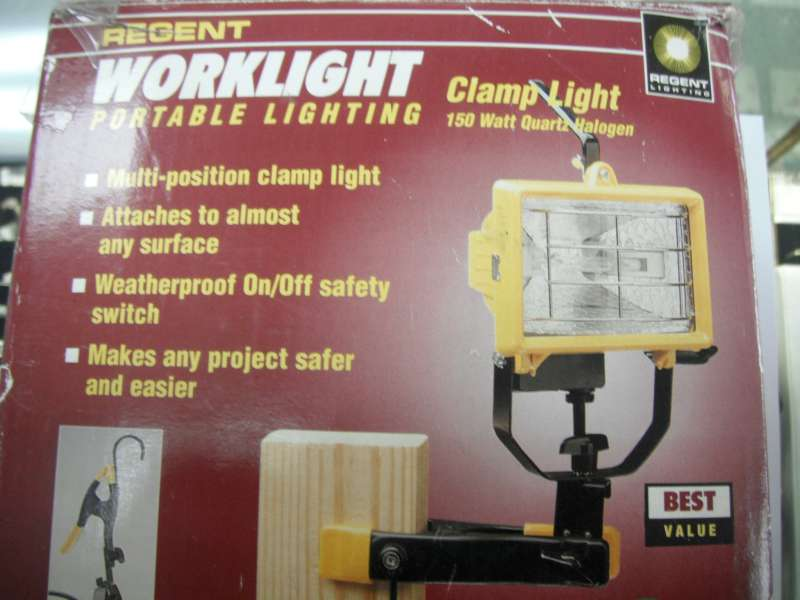 Work Light WORKLIGHT CLAMP LIGHT