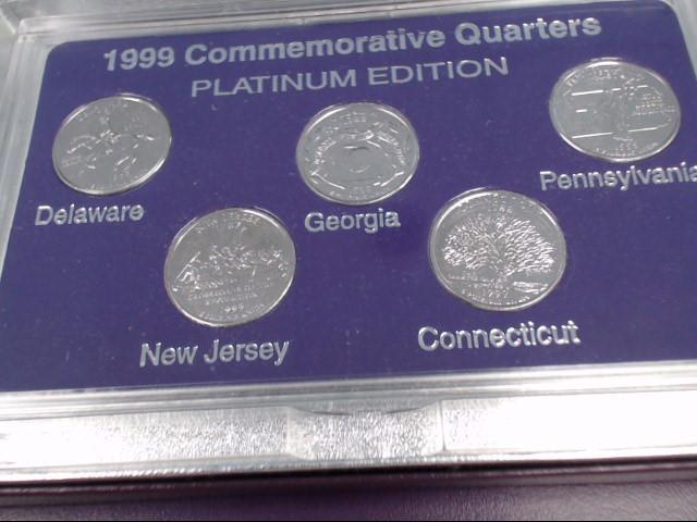 UNITED STATES 1999 COMMEMORATIVE QUARTERS PLATINUM PROOF SET