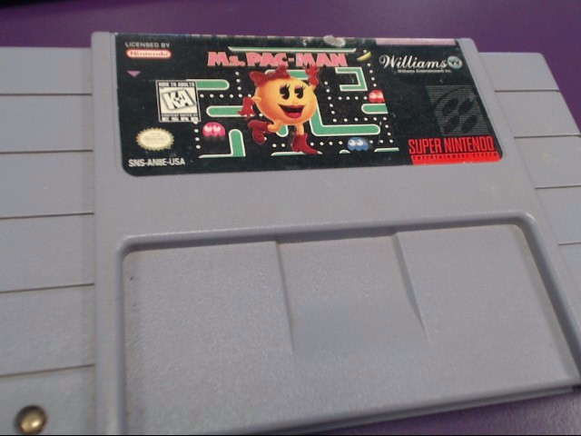 NINTENDO Nintendo SNES Game MS PAC MAN SNES