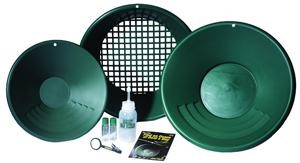 G-1651300, GREEN, 14 INCH PROSPECTOR PAN, 10 INCH BACKPACKER PAN CLASSIFIER, GOL