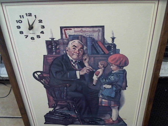 NORMAN ROCKWELL Clock NEW HAVEN CLOCK