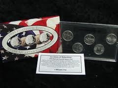UNITED STATES Mint Set 1999 PLATINUM EDITION STATE QUARTER COLLECTION