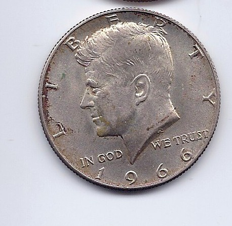 UNITED STATES Silver Coin 1966 KENNEDY