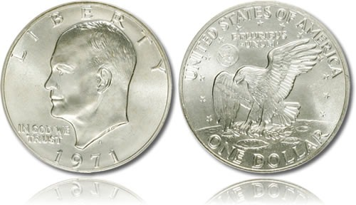 UNITED STATES Coin EISENHOWER DOLLAR 1971-1976