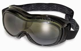 GLOBAL VISION EYEWEAR GOGGLE MACH-1 SM A/F SMOKE LENS WITH BOX