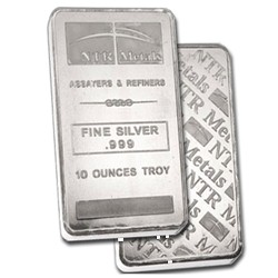 ELEMENTAL 10 OUNCE BAR .999 SILVER