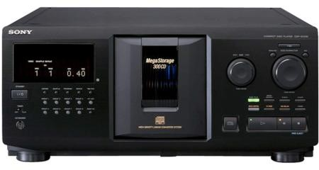 SONY Home Theatre Misc. Equipment CDPCX355 300-DISC MEGASTORAGE CD CHANGER