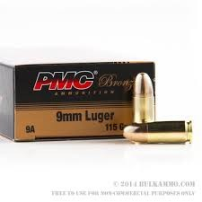 PMC AMMUNITION Ammunition 9MM 115GR FMJ