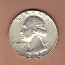 UNITED STATES Silver Coin QUARTER 1964