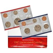 UNITED STATES  MINT 1987 UNCIRCULATED COIN SET