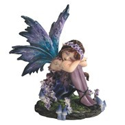 GEORGE S. CHEN Collectible Plate/Figurine 91587 FAIRY BLUE/PURPLE SLEEPING 4""