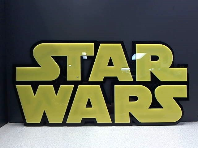 STAR WARS LOGO PLEXIGLASS SIGN