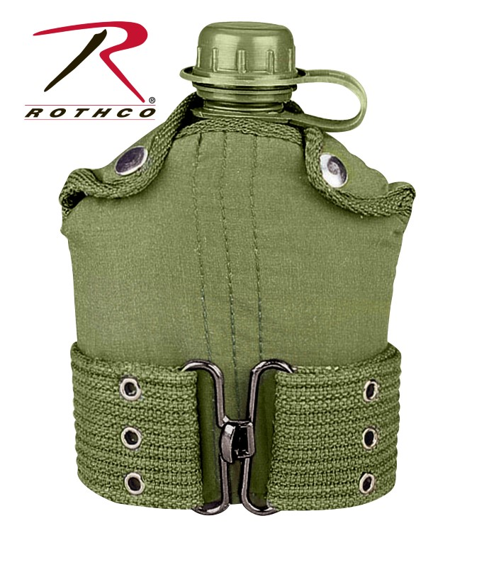 ROTHCO Outdoor Sports 588 CANTEEN W/ BELT