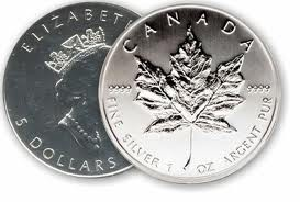CANADA Silver Bullion MAPLE LEAF .9999 FINE SILVE