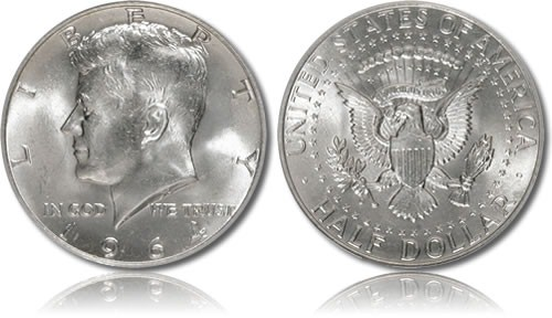 UNITED STATES Silver Coin UNITED STATES KENNEDY HALF 1964