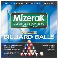 MIZERAK Pool Cue BILLIARD BALLS