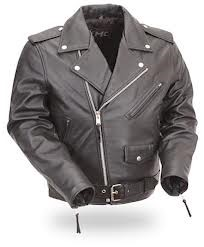 FMC TECHNOLOGIES Coat/Jacket BLACK LEATHER JACKET