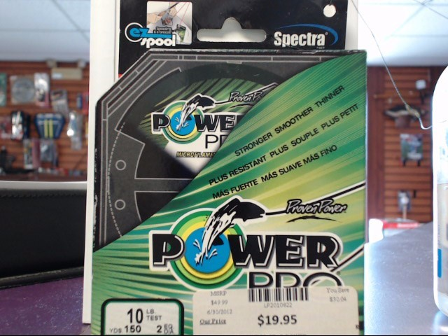 SPECTRA FIBER Misc Fishing Gear POWER PRO FISHING LINE 10LBS