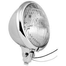 BIKERS CHOICE  666852 5 3/4 chrome bottom mount head light with hi beam