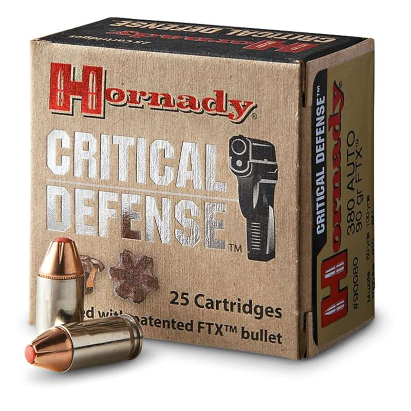 HORNADY Ammunition CRITICAL DEFENSE 380 AUTO 90 GR FTX