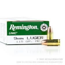 REMINGTON FIREARMS & AMMUNITION Ammunition 9MM 115GR MC