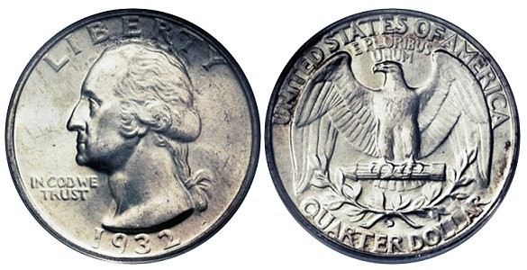 UNITED STATES Silver Coin WASHINGTON QUARTER (1932 - 1998)