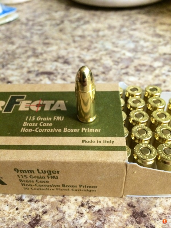 PERFECTA AMMUNITION Ammunition 9MM - 115 GR.