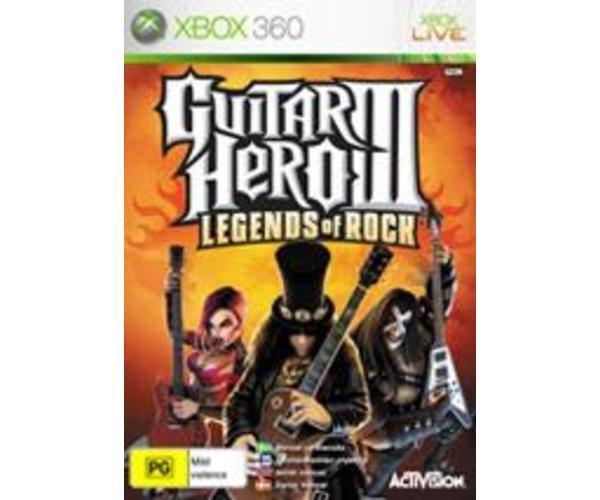 MICROSOFT Microsoft XBOX 360 Game GUITAR HERO III LEGENDS OF ROCK