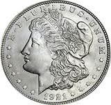 UNITED STATES Silver Coin 1921 D MORGAN DOLLAR