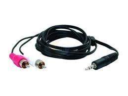 NIPPON IPOD/MP3 Accessory N211P6 3.8MM STEREO TO RCA CABLE