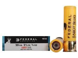 FEDERAL AMMUNITION Ammunition F203 SS2 20 GA SABOT SLUG