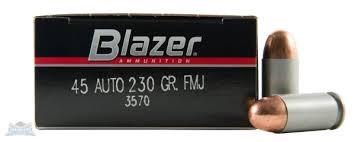 BLAZER AMMUNITION Ammunition 45 ACP 230 GR FMJ