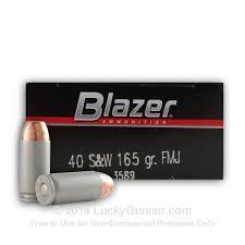 BLAZER AMMUNITION Ammunition 40 S&W 165 GR FMJ