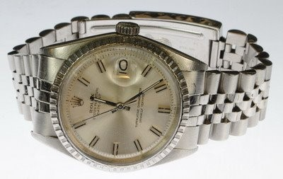 ROLEX Gent's Wristwatch 1603 STAINLESS JUBILEE DATE JUST