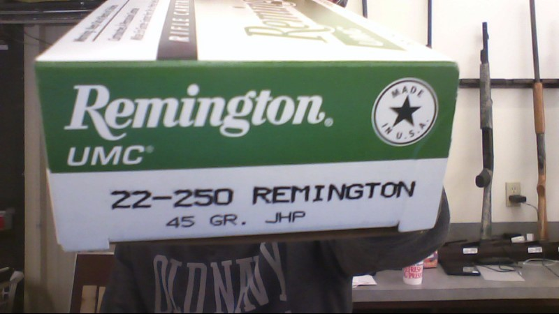 REMINGTON FIREARMS & AMMUNITION Ammunition 22-250 45 GR JHP