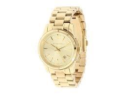MICHAEL KORS Gold Tone Stainless Steel Wristwach w/Date MK5160