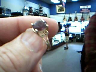 Purple Stone Lady's Stone Ring 14K Yellow Gold 2.3g