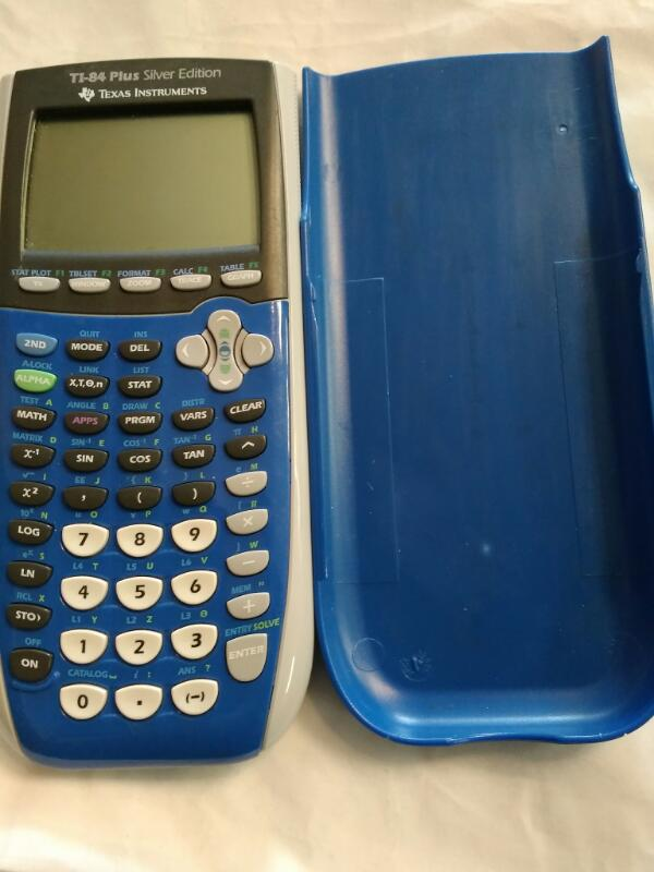 TEXAS INSTRUMENTS Calculator Model TI-84 PLUS SILVER EDITION