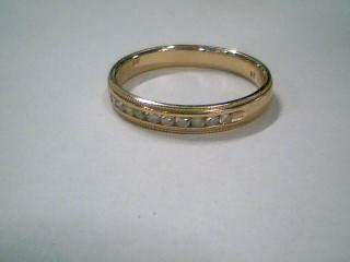Lady's Diamond Wedding Band 13 Diamonds .26 Carat T.W. 14K Yellow Gold 3.1g
