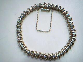 Gold-Diamond Bracelet 42 Diamonds 2.94 Carat T.W. 14K Yellow Gold 16.9g