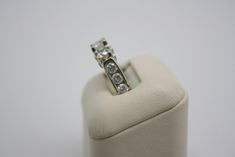 LADY'S FASHION DIAMOND STYLE RING 14K WHITE GOLD