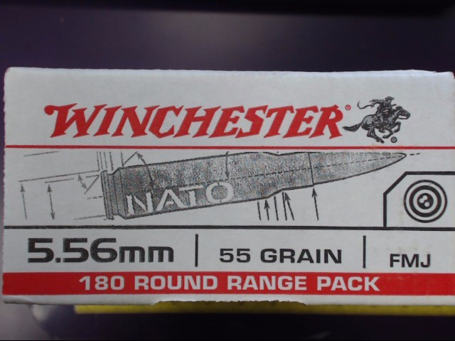 Winchester - 5.56 NATO - 55 Grain FMJ - 180 Round Range Pack