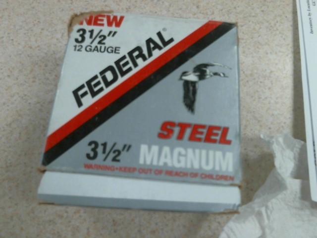 FEDERAL AMMUNITION Ammunition SHOTGUN SHELL 12 GAUGE