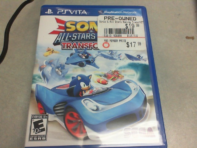 SONY Sony PS VITA Game SONIC & ALL STARS RACING TRANSFORMED