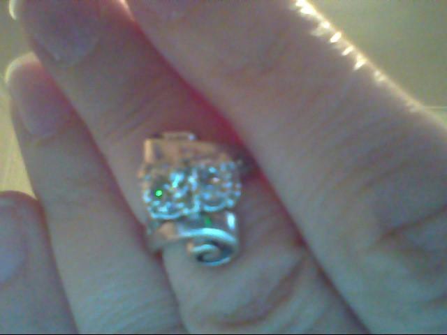 Lady's Diamond Fashion Ring 4 Diamonds .71 Carat T.W. 14K White Gold 4.5g