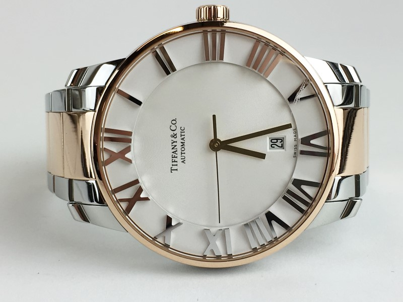 TIFFANY & CO 18KT ROSE GOLD & STAINLESS STEEL ATLAS DOME